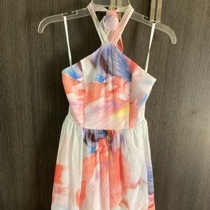 WHBM summer halter dress